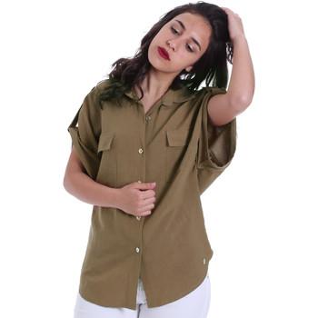 textil Dame Skjorter / Skjortebluser Gaudi 011BD45030 Grøn