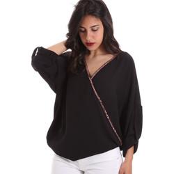 textil Dame Toppe / Bluser Gaudi 011BD45026 Sort