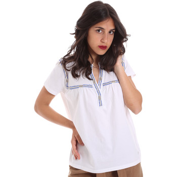 textil Dame T-shirts m. korte ærmer Gaudi 011BD64015 hvid