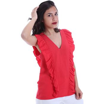 textil Dame Toppe / Bluser Gaudi 011BD45031 Rød