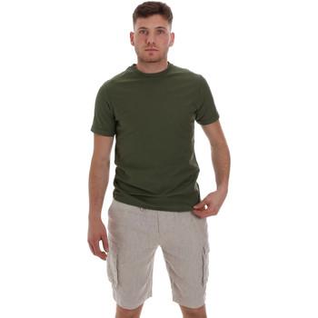 textil Herre T-shirts m. korte ærmer Sseinse ME1548SS Grøn