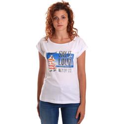 textil Dame T-shirts m. korte ærmer Key Up 5D72S 0001 hvid