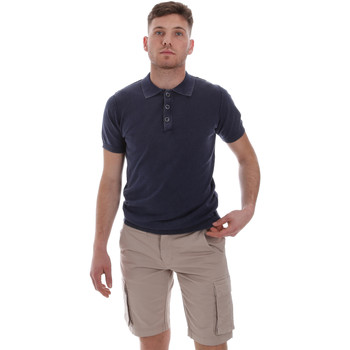 textil Herre Polo-t-shirts m. korte ærmer Sseinse ME1513SS Blå