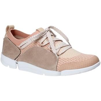 Sko Dame Lave sneakers Clarks 131094 Lyserød