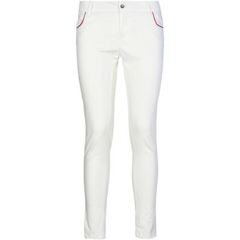 textil Dame Chinos / Gulerodsbukser Café Noir JP235 hvid