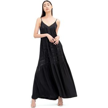 textil Dame Lange kjoler Fracomina FR20SM546 Sort