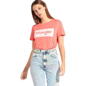 textil Dame T-shirts m. korte ærmer Wrangler W7016D Rød