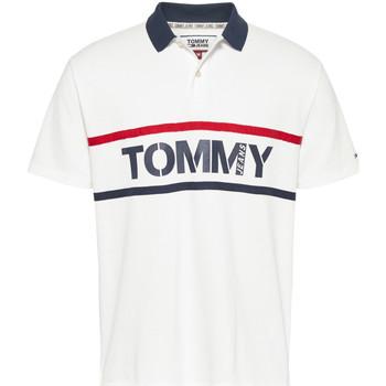 textil Herre Polo-t-shirts m. korte ærmer Tommy Jeans DM0DM07779 hvid