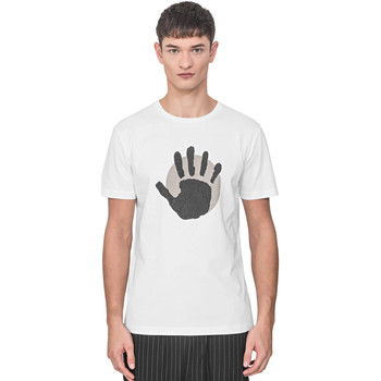 textil Herre T-shirts m. korte ærmer Antony Morato MMKS01765 FA100144 hvid
