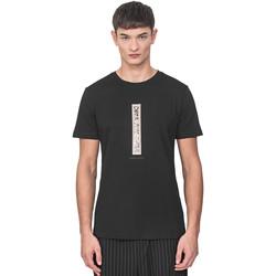 textil Herre T-shirts m. korte ærmer Antony Morato MMKS01766 FA100144 Sort