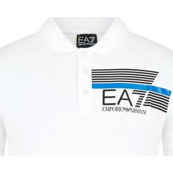textil Herre Polo-t-shirts m. korte ærmer Ea7 Emporio Armani 3HPF17 PJ02Z hvid