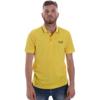 textil Herre Polo-t-shirts m. korte ærmer Ea7 Emporio Armani 8NPF06 PJ04Z Gul