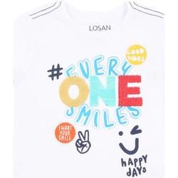 textil Pige T-shirts m. korte ærmer Losan 015-1032AL hvid