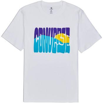 textil Herre T-shirts m. korte ærmer Converse 10018864-A01 hvid