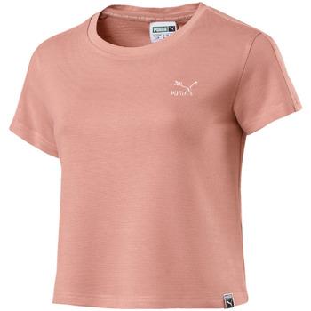 textil Dame T-shirts m. korte ærmer Puma 575065 Lyserød