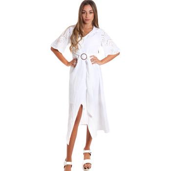 textil Dame Lange kjoler Fracomina FR20SM561 hvid