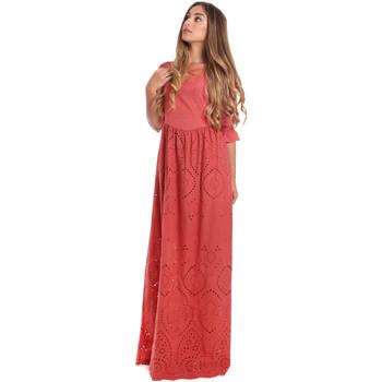 textil Dame Lange kjoler Fracomina FR20SM506 Rød