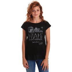 textil Dame T-shirts m. korte ærmer Key Up 5Z10S 0001 Sort