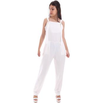 textil Dame Buksedragter / Overalls Gaudi 011BD25049 hvid