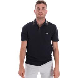 textil Herre Polo-t-shirts m. korte ærmer Les Copains 9U9021 Blå