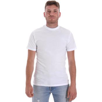 textil Herre T-shirts m. korte ærmer Les Copains 9U9013 hvid