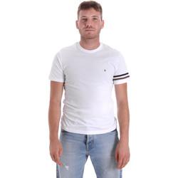 textil Herre T-shirts m. korte ærmer Les Copains 9U9014 hvid