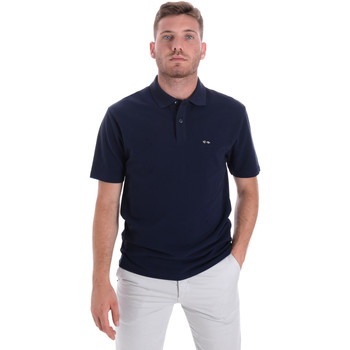 textil Herre Polo-t-shirts m. korte ærmer Les Copains 9U9023 Blå