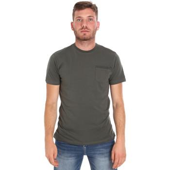 textil Herre T-shirts m. korte ærmer Les Copains 9U9010 Grøn