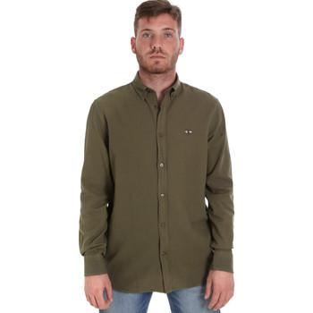 textil Herre Skjorter m. lange ærmer Les Copains 9U2371 Grøn