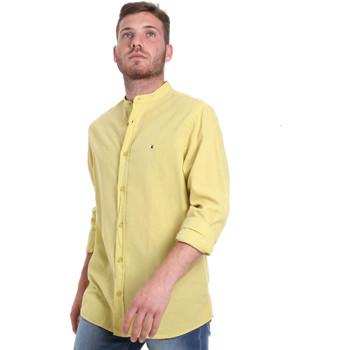 textil Herre Skjorter m. lange ærmer Les Copains 9U2722 Grøn