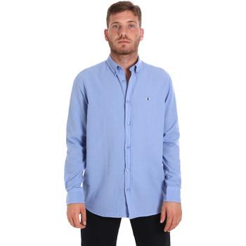 textil Herre Skjorter m. lange ærmer Les Copains 9U2371 Blå