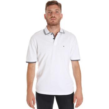 textil Herre Polo-t-shirts m. korte ærmer Les Copains 9U9020 hvid