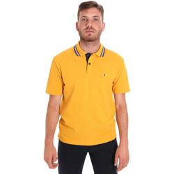 textil Herre Polo-t-shirts m. korte ærmer Les Copains 9U9021 Gul