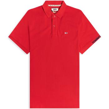 textil Herre Polo-t-shirts m. korte ærmer Tommy Jeans DM0DM07802 Rød