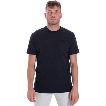 textil Herre T-shirts m. korte ærmer Les Copains 9U9010 Blå