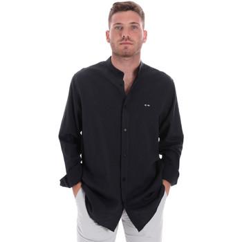 textil Herre Skjorter m. lange ærmer Les Copains 9U2722 Blå