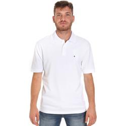 textil Herre Polo-t-shirts m. korte ærmer Les Copains 9U9015 hvid