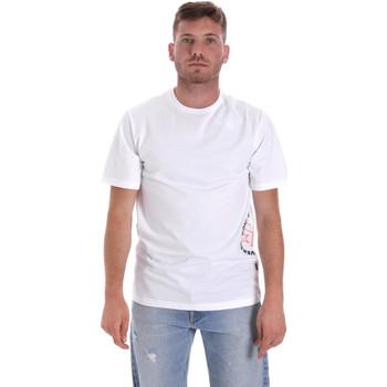 textil Herre T-shirts m. korte ærmer Converse 10018872-A02 hvid