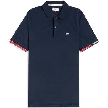 textil Herre Polo-t-shirts m. korte ærmer Tommy Jeans DM0DM07803 Blå