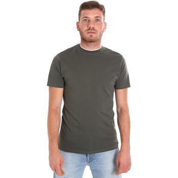textil Herre T-shirts m. korte ærmer Les Copains 9U9013 Grøn