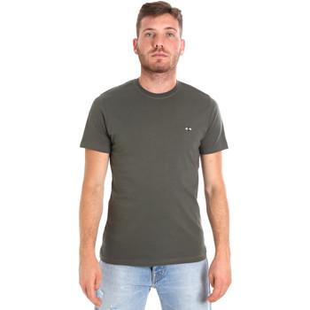 textil Herre T-shirts m. korte ærmer Les Copains 9U9011 Grøn