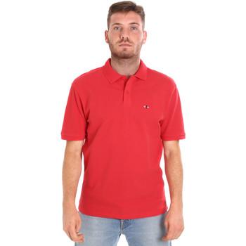 textil Herre Polo-t-shirts m. korte ærmer Les Copains 9U9015 Rød
