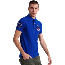textil Herre Polo-t-shirts m. korte ærmer Superdry M1110008A Blå