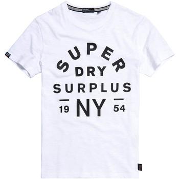 textil Herre T-shirts m. korte ærmer Superdry M1010113A hvid