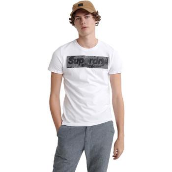 textil Herre T-shirts m. korte ærmer Superdry M1000069A hvid