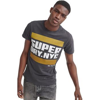 textil Herre T-shirts m. korte ærmer Superdry M1000012A Sort