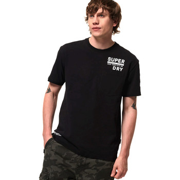 textil Herre T-shirts m. korte ærmer Superdry M1000040A Sort