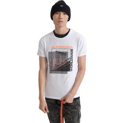 textil Herre T-shirts m. korte ærmer Superdry M1000047A hvid
