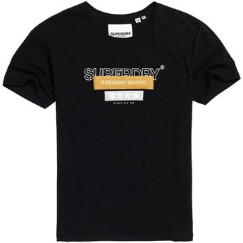 textil Dame T-shirts m. korte ærmer Superdry G10305YU Sort