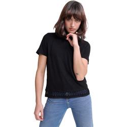 textil Dame T-shirts m. korte ærmer Superdry G60408RU Sort